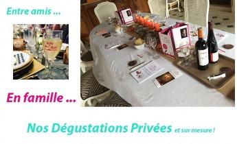 """""""La dégustation privée"""" : UN CONCEPT"""