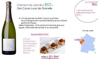 Notre Crémant de Loire BIO est à l'honneur !